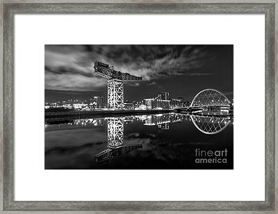 River Clyde At Night Framed Print