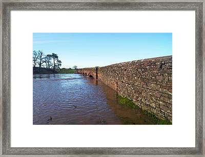 River Eden Flooding. Framed Print by Mark Williamson