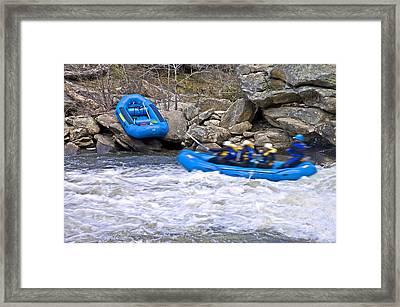 River Rafting Framed Print