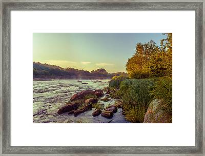 River Stones Framed Print