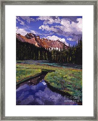 River Valley Framed Print