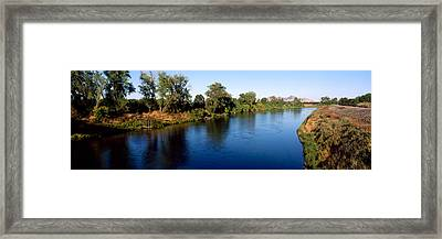 River With A Mountain Framed Print by Panoramic Images