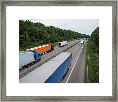 Road Freight Framed Print by Robert Brook