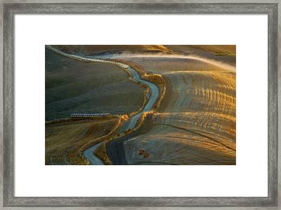 Road... Framed Print