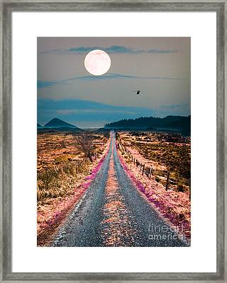 Road Less Traveled  Framed Print by Celestial Images