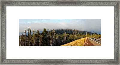 Road Near Mount Bachelor Framed Print by Twenty Two North Photography