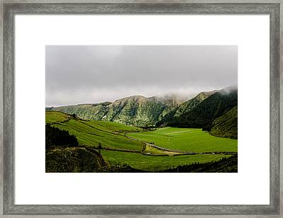 Road Over Valley Framed Print