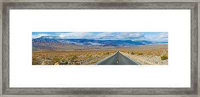 Road Passing Through A Desert, Death Framed Print by Panoramic Images