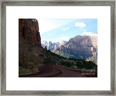 Road Through Zion National Park Framed Print