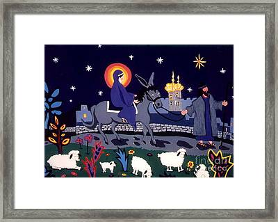 Framed Print featuring the painting Road To Bethlehem by Joyce Gebauer