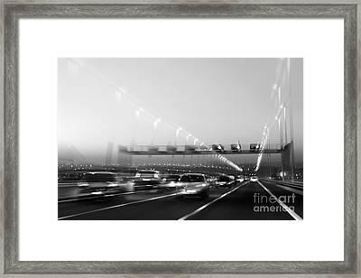 Road Traffic Framed Print by Carlos Caetano