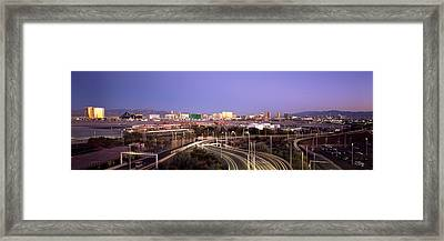 Roads In A City With An Airport Framed Print by Panoramic Images