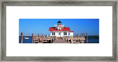 Roanoke Marshes Lighthouse, Outer Framed Print by Panoramic Images