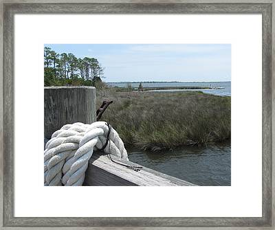 Framed Print featuring the photograph Roanoke Rope 2 by Cathy Lindsey