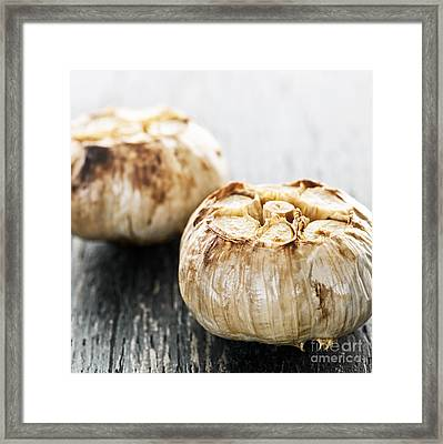 Roasted Garlic Bulbs Framed Print by Elena Elisseeva