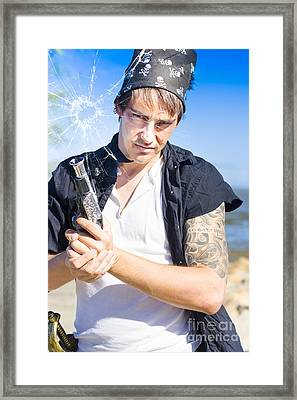 Robber Framed Print by Jorgo Photography - Wall Art Gallery