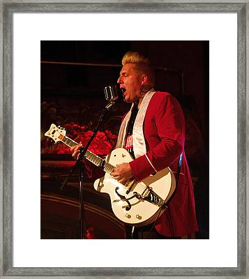 Robert Lavoie And The Cat Scat Band Framed Print by Jocelyne Choquette