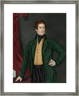 Robert Peel Framed Print by Maria Platt-evans