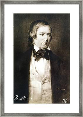 Robert Schumann (1810-1856) Framed Print by Granger