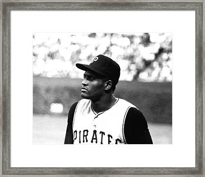 Roberto Clemente Framed Print by Retro Images Archive