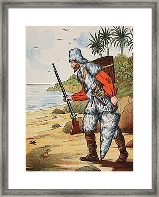 Robinson Crusoe Framed Print by English School