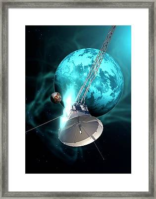 Robotic Probe In Deep Space Framed Print by Victor Habbick Visions