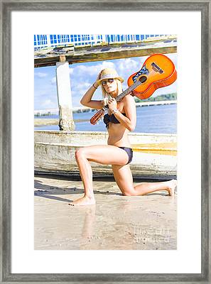 Rock And Roll Woman Framed Print by Jorgo Photography - Wall Art Gallery