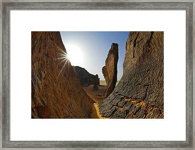 Rock Formations, Algerian Sahara Framed Print