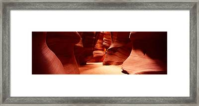 Rock Formations, Antelope Canyon, Lake Framed Print