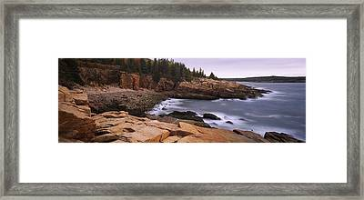 Rock Formations At The Coast, Monument Framed Print