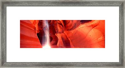 Rock Formations In A Canyon, Antelope Framed Print