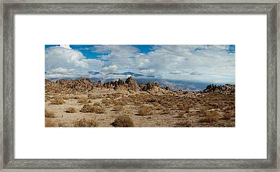 Rock Formations In A Desert, Alabama Framed Print by Panoramic Images