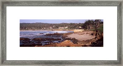 Rock Formations In The Sea, Carmel Framed Print