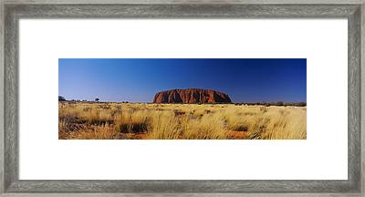 Rock Formations On A Landscape, Ayers Framed Print by Panoramic Images