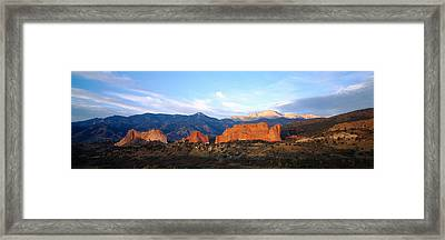 Rock Formations On A Landscape, Garden Framed Print by Panoramic Images