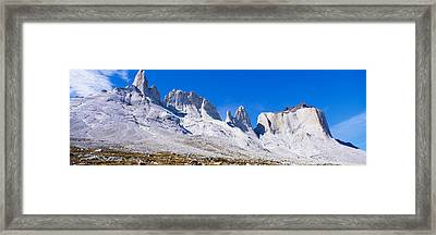 Rock Formations On A Mountain Range Framed Print by Panoramic Images