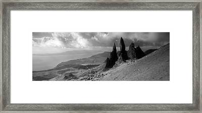 Rock Formations On Hill, Old Man Framed Print by Panoramic Images
