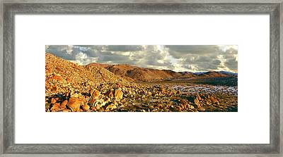 Rock Formations On Landscape Framed Print by Panoramic Images