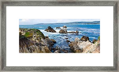 Rock Formations On The Coast, Point Framed Print by Panoramic Images
