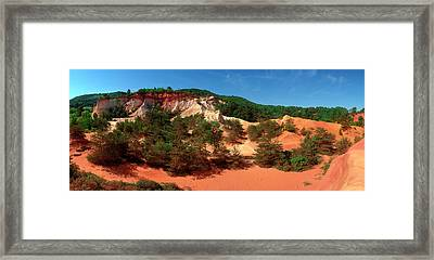 Rock Formations, Rustrel, Vaucluse Framed Print