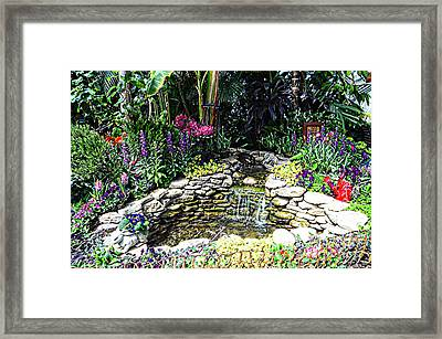 Rock Garden Framed Print by Kathleen Struckle
