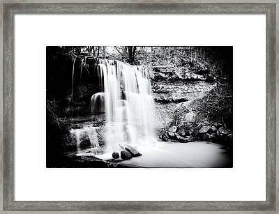 Rock Glen Falls Framed Print