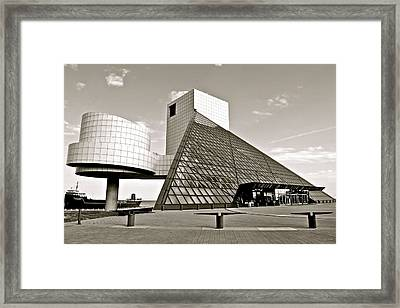 Rock Hall Of Fame Framed Print by Frozen in Time Fine Art Photography