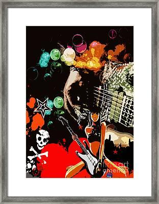 Rock Framed Print by Mundo Arte