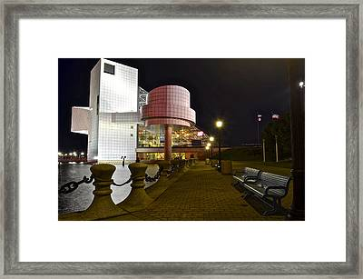 Rock N Roll Hall Of Fame Framed Print by Frozen in Time Fine Art Photography