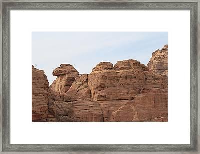 Rock Structure At Petra In Jordan Framed Print
