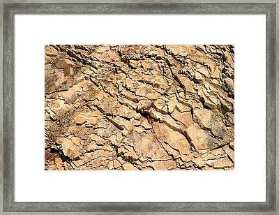 Framed Print featuring the photograph Rock Wall by Henrik Lehnerer