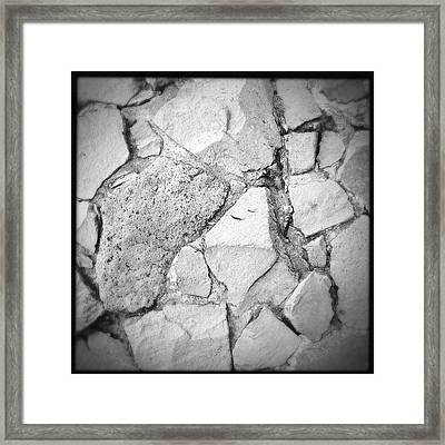 Rock Wall Framed Print by Les Cunliffe