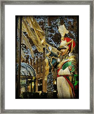 Rockefeller Center Bugle Boy Framed Print by Lee Dos Santos