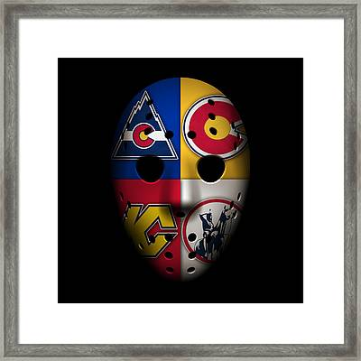 Rockies Goalie Mask Framed Print